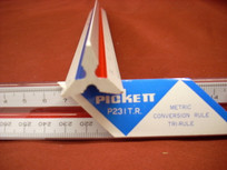 "12"" Pickett Metric Conversion Rule Tri-Rule"