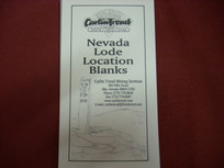Nevada Lode Location Blanks