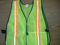 Two- Tone Yellow Mesh Vest