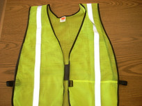 Yellow Mesh Silver Reflective Vest