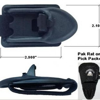 The PAK RAT is a Sling / strap retention system designed with the back pack user in mind. Great for metal detectorist to stay hands free while trusting your equipment is secure. It keeps products like metal detectors with straps that must go over your shoulder on your shoulder when a back pack is being used.