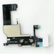 iPhone 5 White Charge Port Dock Connector Flex Cable With Head Phone Audio Jack USB Port Charging port