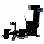 iPhone 5 Black Charge Port Dock Connector Flex Cable With Head Phone Audio Jack USB Port Charging port
