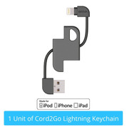 [APPLE MFI CERTIFIED] CORD2GO LIGHTNING KEYCHAIN (CB113)