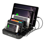Skiva StandCharger 7-Port 84W/16.8A Desktop USB Fast Charging Station Dock with SmartIC for iPhone, iPad, Samsung Galaxy, LG, Smart Phones, Tablets, Wearables & more