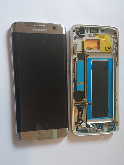 Samsung Galaxy S7 Edge G935a G935t Lcd Display Screen And Digitizer Assembly Gold With Frame