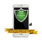 OEM Premium Apple iPhone 7+ Plus LCD Digitizer Assembly - White