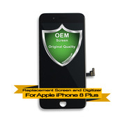 OEM Apple iPhone 8+ Plus LCD Digitizer Assembly - Black