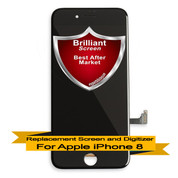 Brilliant Premium Apple iPhone 8 LCD Digitizer Assembly - Black