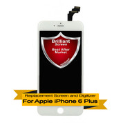 Brilliant Premium Apple iPhone 6 Plus (6+) LCD Digitizer Assembly - White