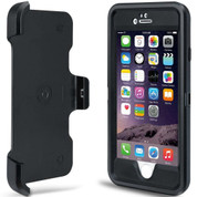 Rugged Defender Case Cover with Holster and Belt Clip  - Black