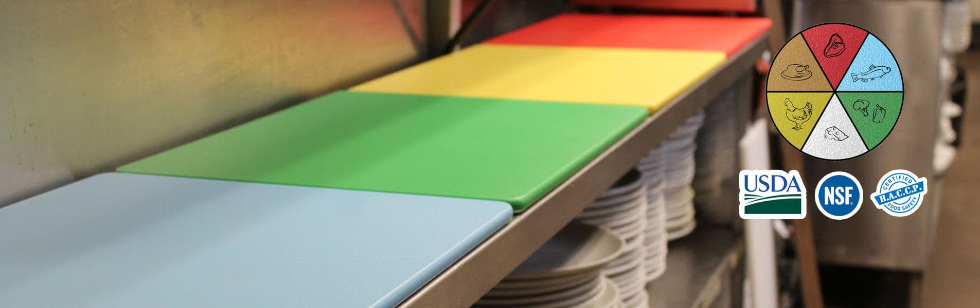 color cutting boards, plastic cutting board, cutting board company