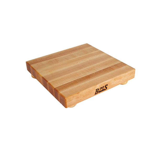 "Maple Cutting Board - 12""x 12""x 1-1/2"" - with Maple Feet - John Boos"