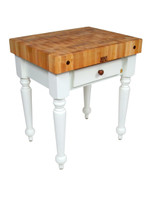 "Rustica Kitchen Island - 30""x 24""x 4"" - Alabaster Base - John Boos"