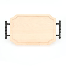 "Selwood 12"" x 18"" Cutting Board - Maple (w/ Twisted Ball Handles)"