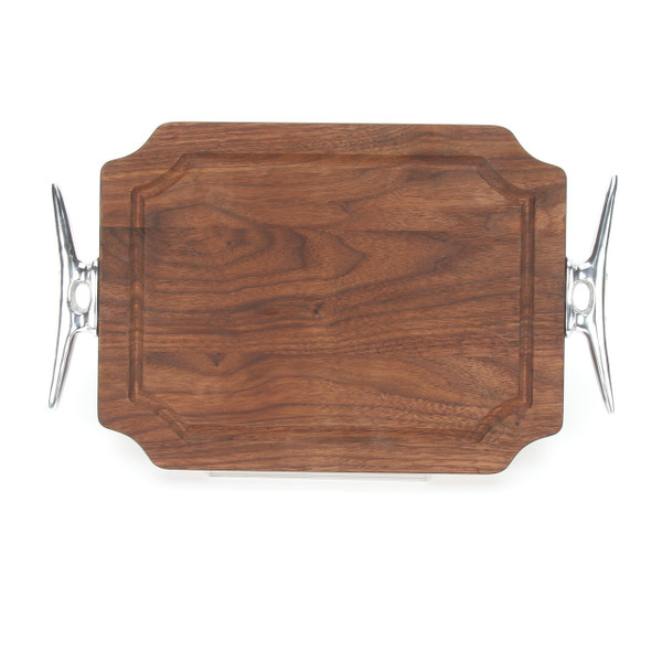 "Selwood 9"" x 12"" Cutting Board - Walnut (w/ Cleat Handles)"