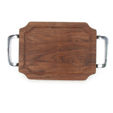 "Selwood 9"" x 12"" Cutting Board - Walnut (w/ Polished Handles)"