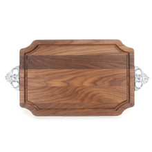 "Selwood 12"" x 18"" Cutting Board - Walnut (w/ Scalloped Handles)"