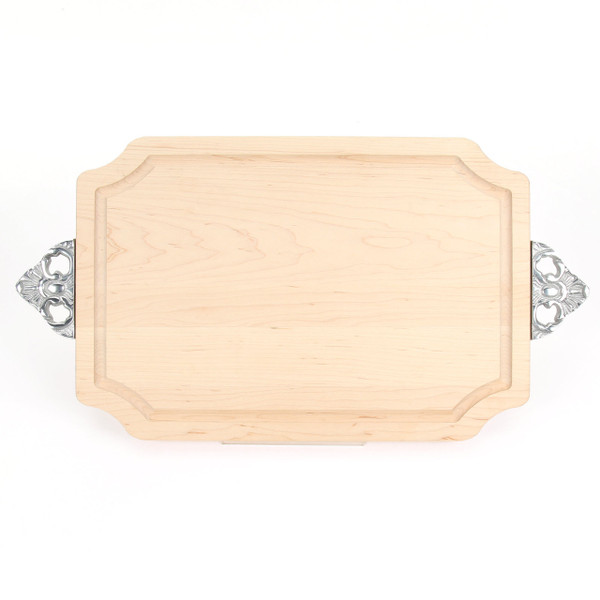 "Selwood 12"" x 18"" Cutting Board - Maple (w/ Scalloped Handles)"