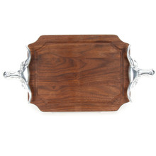 "Selwood 9"" x 12"" Cutting Board - Walnut (w/ Long Horn Handles)"