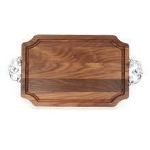 "Selwood 12"" x 18"" Cutting Board - Walnut (w/ Classic Handles)"
