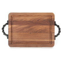 "Wiltshire 9"" x 12"" Cutting Board - Walnut (w/ Twisted Handles)"