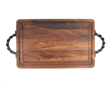 "Wiltshire 15"" x 24"" Cutting Board - Walnut (w/ Twisted Handles)"