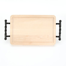 "Wiltshire 10"" x 16"" Cutting Board - Maple (w/ Twisted Ball Handles)"