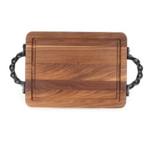"Wiltshire 9"" x 12"" Cutting Board - Walnut (w/ Twisted Ball Handles)"