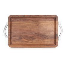 "Wiltshire 10"" x 16"" Cutting Board - Walnut (w/ Rope Handles)"