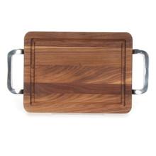 """Wiltshire 9"""" x 12"""" Cutting Board - Walnut (w/ Polished Handles)"""