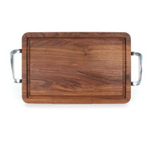 "Wiltshire 10"" x 16"" Cutting Board - Walnut (w/ Polished Handles)"