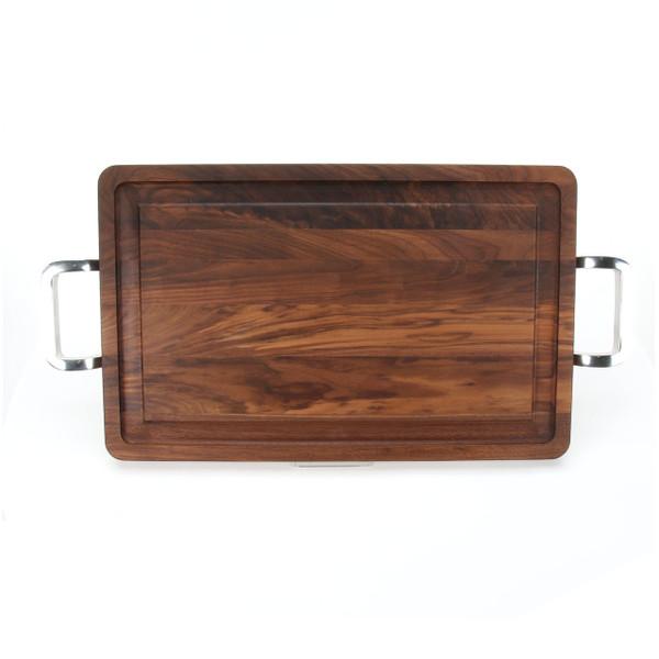 """Wiltshire 15"""" x 24"""" Cutting Board - Walnut (w/ Polished Handles)"""