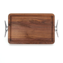 "Wiltshire 10"" x 16"" Cutting Board - Walnut (w/ Cleat Handles)"