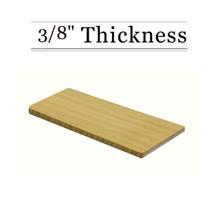"""3/8"""" Amber Bamboo Cutting Board - Natural Edge Grain"""