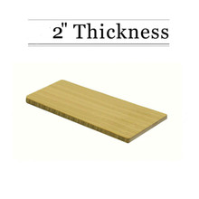 "2"" Thick Amber Bamboo Custom Cutting Board - Natural Edge Grain"