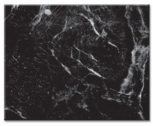 "Tempered Glass Counter Saver, 12"" x 15"" Black Marble"