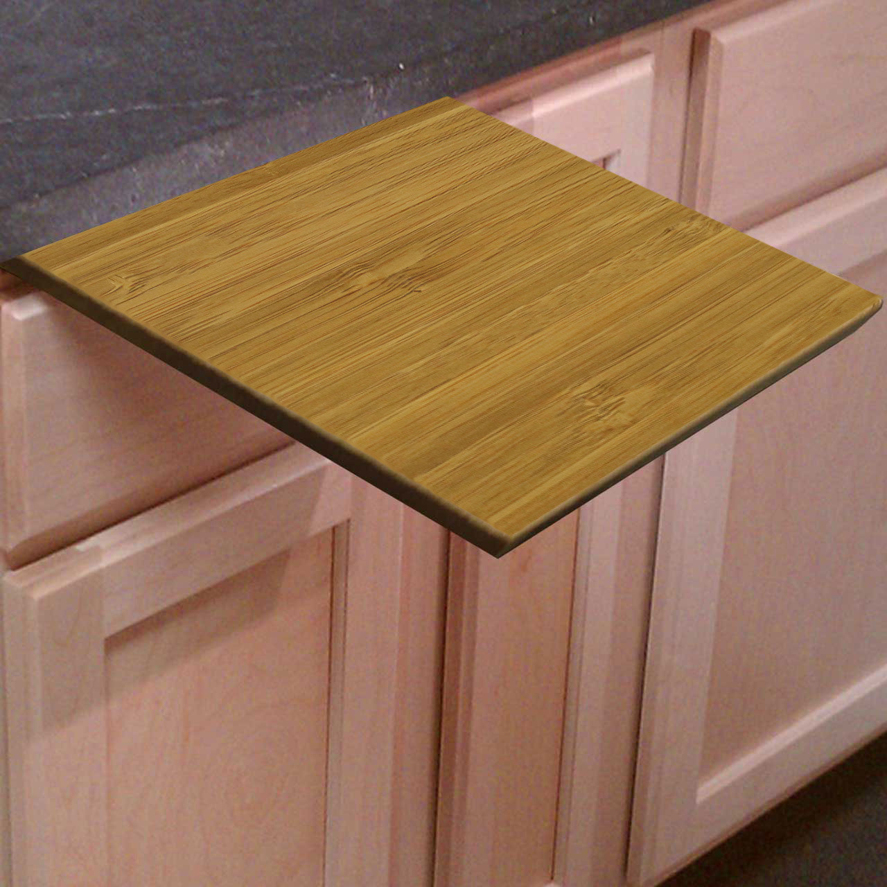 Fantastic Pull Out Amber Bamboo Cutting Board - 3/4 Inch Thick - Cutting  QF89
