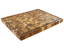 Proteak 333 extra large teak end grain cutting board with juice groove