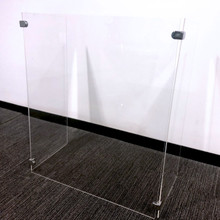 U-Shape Acrylic Sneeze Guard (w/ Brackets)