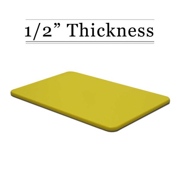 1/2 Thick Yellow Custom Cutting Board