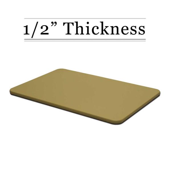 1/2 Thick Tan Custom Cutting Board
