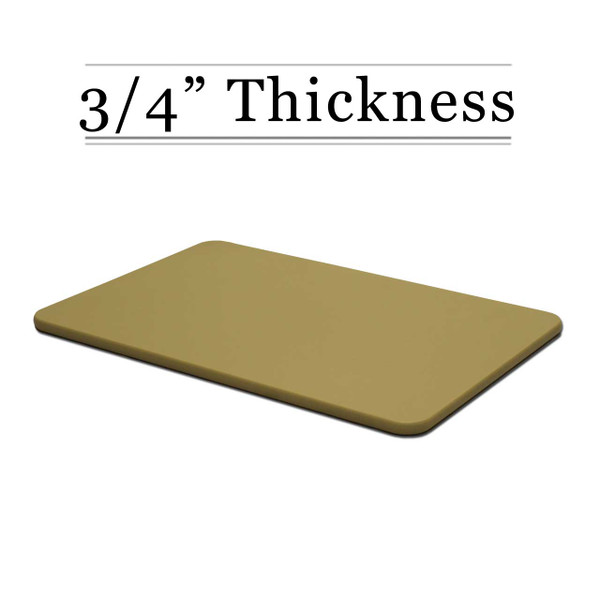 3/4 Thick Tan Custom Cutting Board