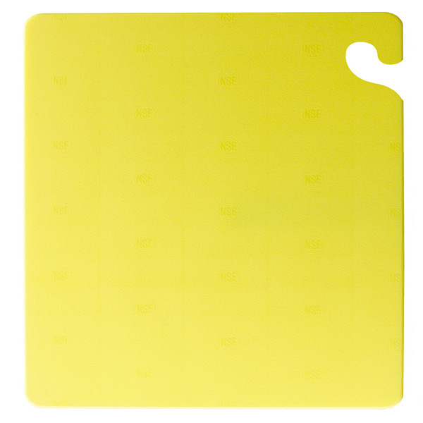 "San Jamar YELLOW Cut-N-Carry Cutting Board 15"" x 20"" x 1/2"""
