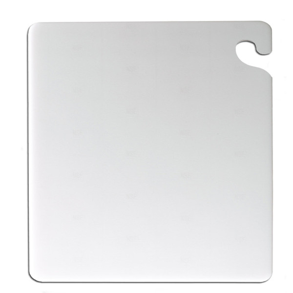 "San Jamar WHITE Cut-N-Carry Cutting Board 12"" x 18"" x 1/2"""
