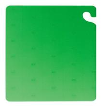 "San Jamar GREEN Cut-N-Carry Cutting Board 12"" x 18"" x 1/2"""