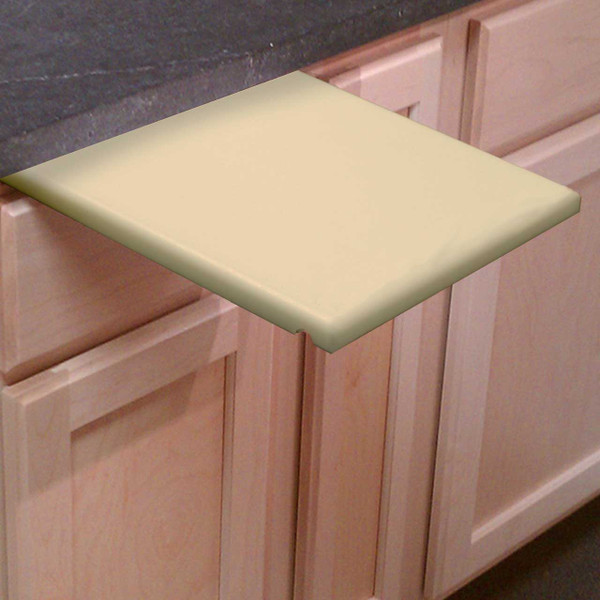 3/4 Inch Thick Tan Pull Out Under Counter Cutting Board