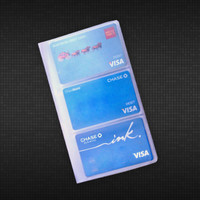 Vinyl Business or Credit Card Holder (3 High) - 1 Tab
