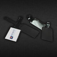 "2 1/4"" x 8"" Business Card Black Vinyl Luggage Tag Holder"