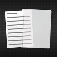 High-quality clear vinyl sleeve. Use as a sheet protector or document holder. Made from heavy 8-gauge clear material on the front and back